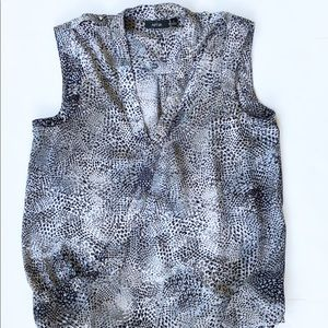 Apt. 9 Snakeskin dressy top medium